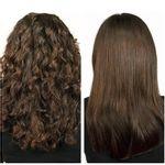 Salon-Straight-cepillo-de-pelo-cabello-rizado-liso-planchado-suave-natural-look-femenino-sensual-peinado