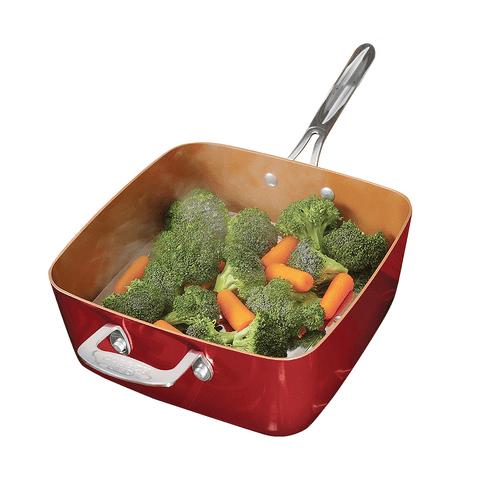 Red-Copper-Square-Pan-olla-multifuncion-anti-adherente-sarten-grande-apta-horno-un-producto-de-tevecompras